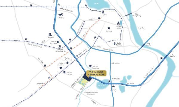 Bản đồ THE MANOR CENTRAL PARK