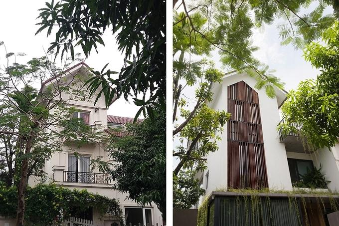 Mặt tiền công trình trước và sau cải tạo